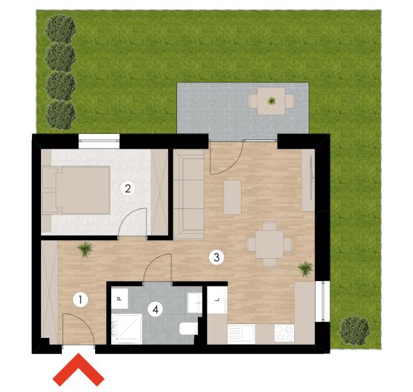 Wizualizacja pomieszczeń mieszkania